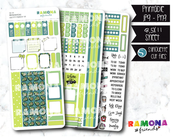 COD254- Hobonichi week stickers / Hobo stickers