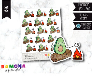 COD272- Avocado camp stickeres / Avocado Planner stickers