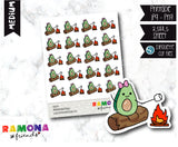 COD274- Avocado camp stickeres / Avocado Planner stickers