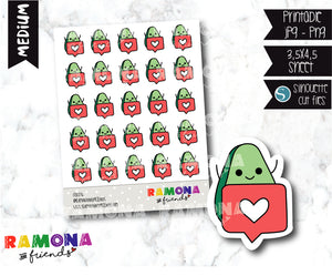 COD276-Avocado Planner stickers