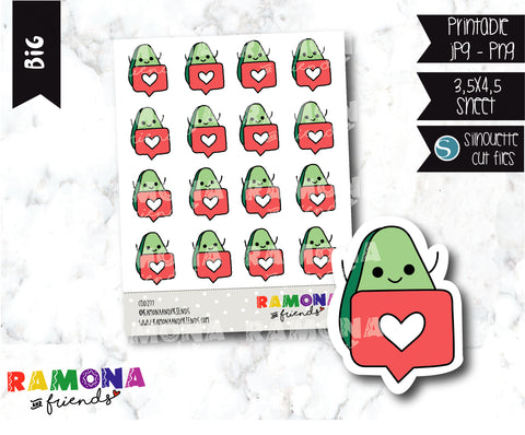 COD277-Avocado Planner stickers