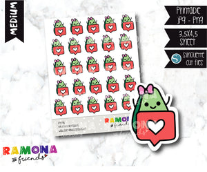 COD278-Avocado Planner stickers