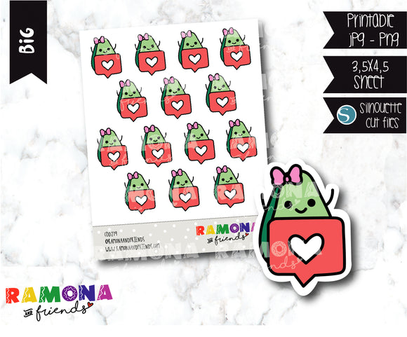 COD279-Avocado Planner stickers