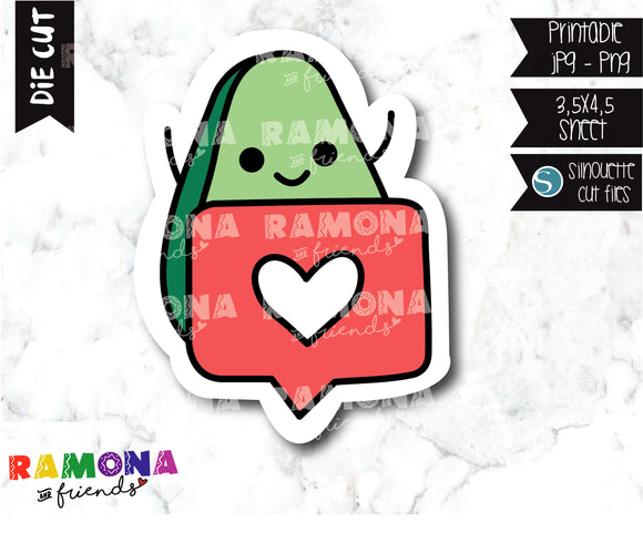 COD281-Avocado Planner stickers