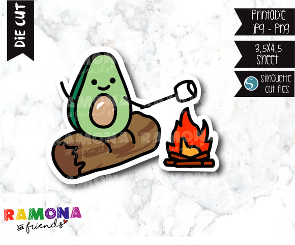 COD283-Avocado camp Planner stickers