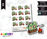 COD287- Avocado camp stickeres / Avocado Planner stickers