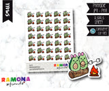 COD291- Avocado camp stickeres / Avocado Planner stickers