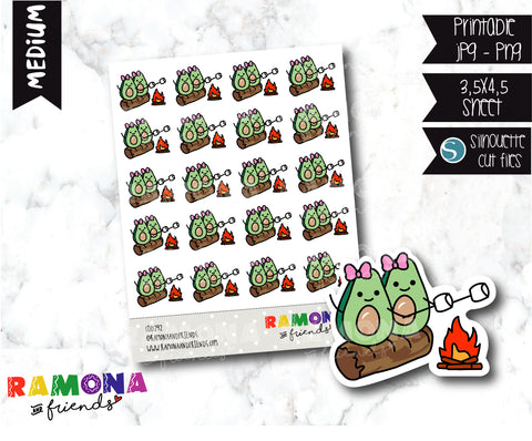 COD292- Avocado camp stickeres / Avocado Planner stickers
