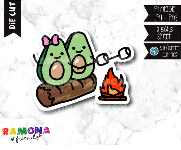 COD295-Avocado camp Planner stickers