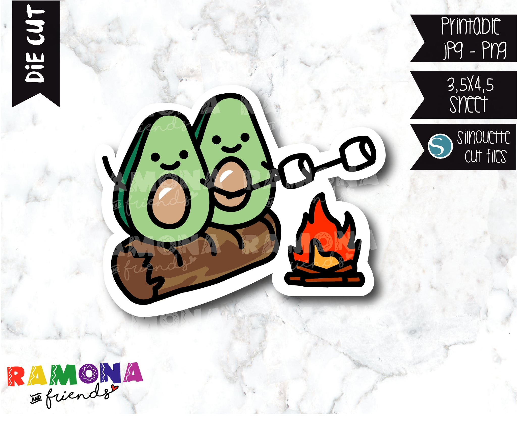 COD296-Avocado camp Planner stickers