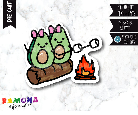 COD297-Avocado camp Planner stickers