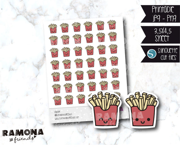 COD319-Kawaii frises Planner stickers