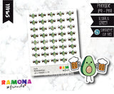 COD358- Avocado beer day stickers