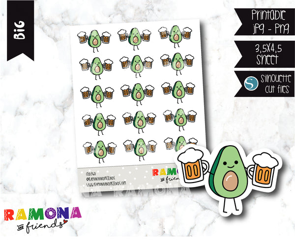 COD360- Avocado beer day stickers