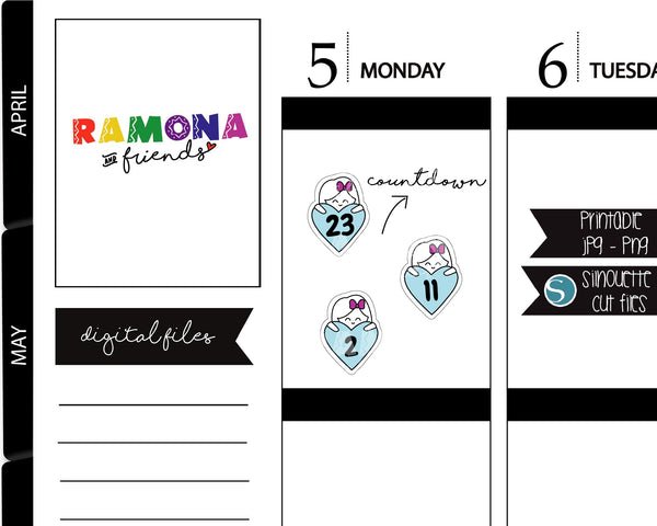 COD366-Planner Countdown stickers