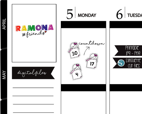 COD368-Planner Countdown stickers