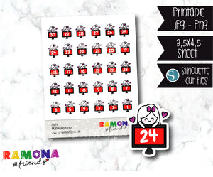 COD370-Planner Countdown stickers