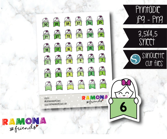 COD371-Planner Countdown stickers