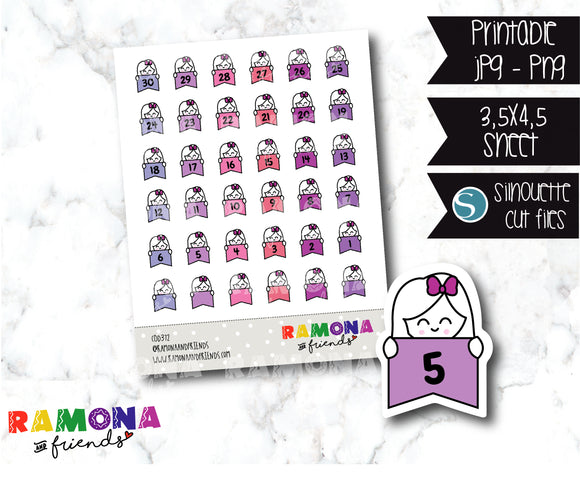 COD372-Planner Countdown stickers