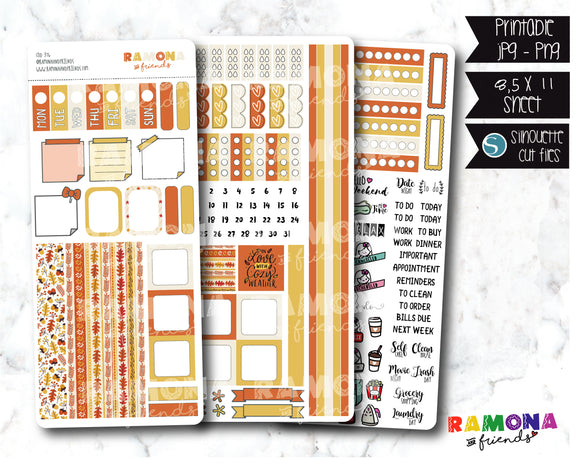 COD376-Fall Hobonichi week stickers / Hobo stickers