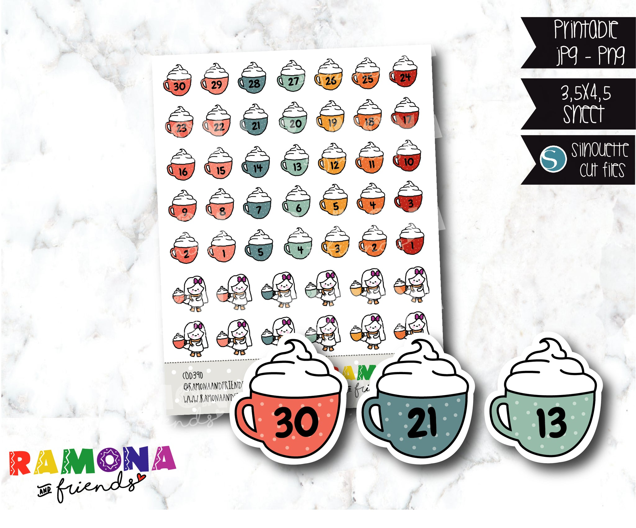 COD390-Countdown stickers/Fall Stickers / Autumn stickers