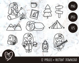 DS03-Camping Clipart Set/scout clipart/Digital Stamp/Commercial License