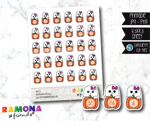 COD415-Ghost Countdown Halloween stickers
