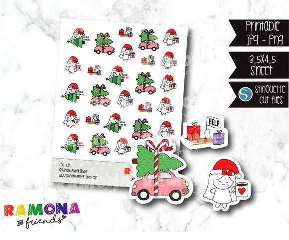 COD434-Christmas Stickers