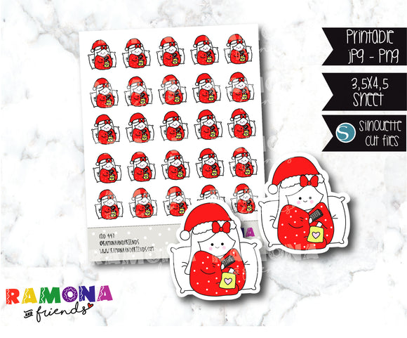 COD447-Christmas Stickers/ cozy christmas stickers