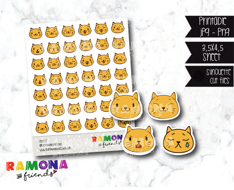 COD523- Emoji cats stickers