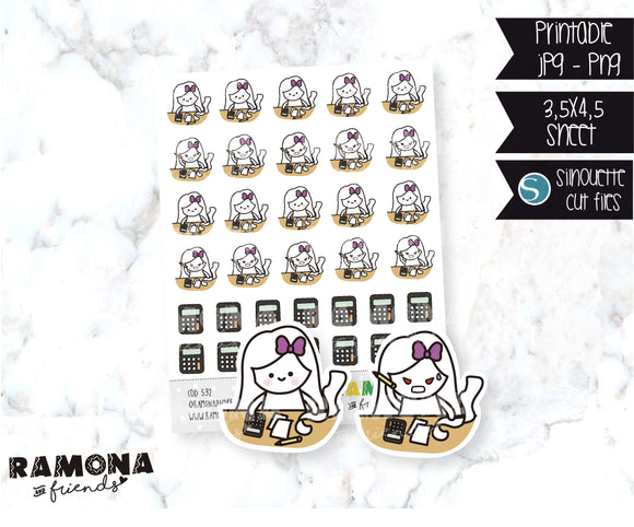 COD532-Finance Stickers/ Accounting Planner Sticker