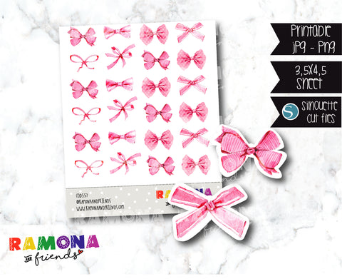COD557- Cute ribbons stickers