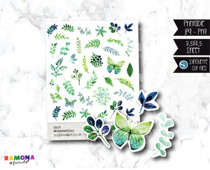 COD559- Deco botanical stickers