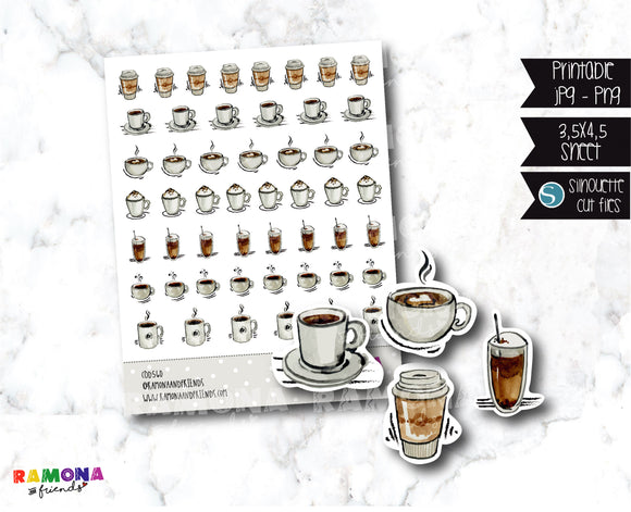 COD560-Coffee time stickers