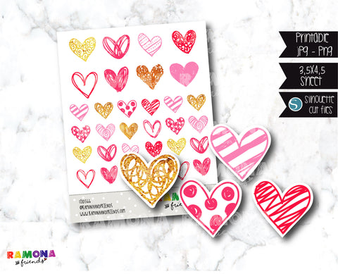 COD566-Love stickers/heart stickers