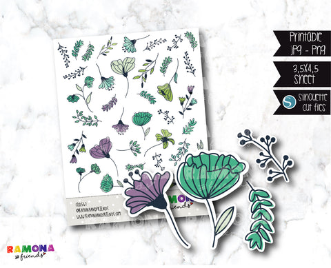 COD567- Deco botanical stickers