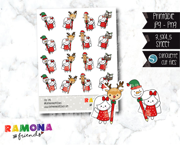 COD590-Christmas functional Stickers
