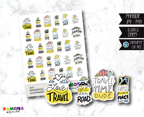 COD592- Deco travel stickers / Quote stickers