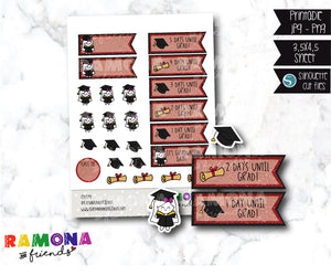 COD597- Graduation stickers/ School stickers / Countdown stickers