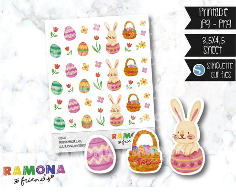 COD601-Easter stickers / Bunny Stickers