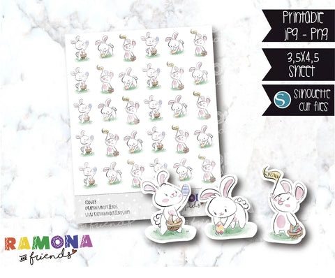 COD603-Easter stickers / Bunny Stickers