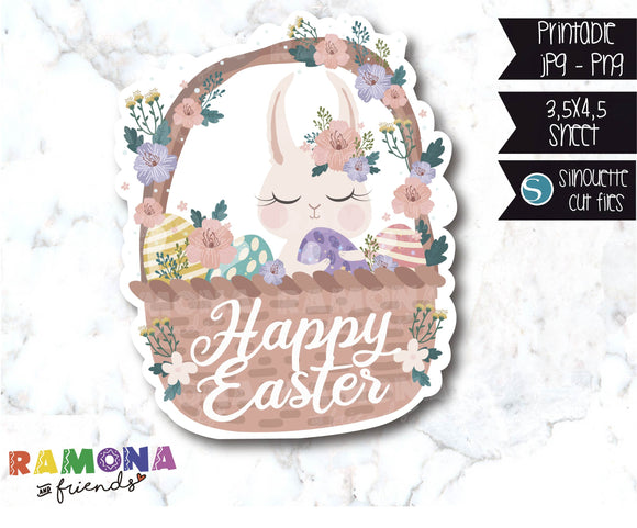 COD604-Easter die cut stickers / Bunny Stickers