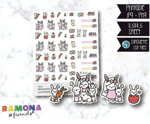COD605-Easter stickers / Bunny Stickers