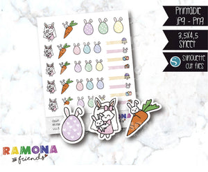 COD609-Easter stickers / Bunny Stickers