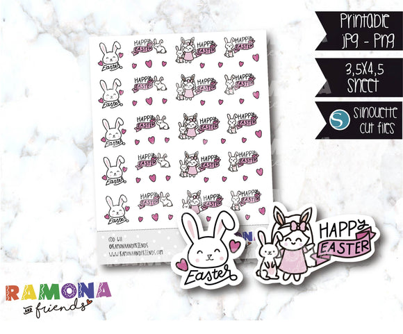 COD611-Easter stickers / Bunny Stickers