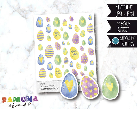 COD612-Easter stickers / Bunny Stickers