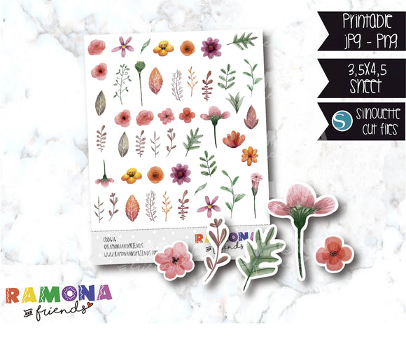 COD616-Flowers stickers / Spring Stickers