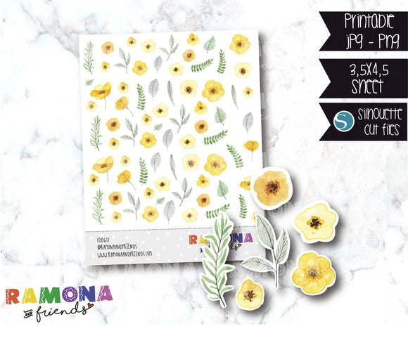 COD617-Flowers stickers / Spring Stickers