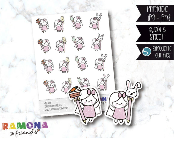 COD622-Easter stickers / Bunny Stickers