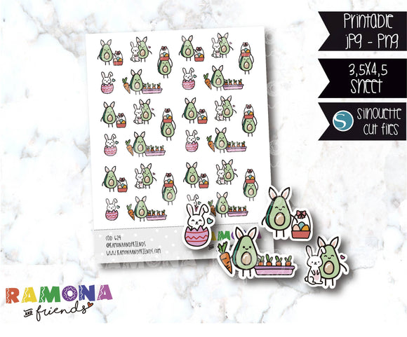 COD624-Easter stickers / Bunny Stickers